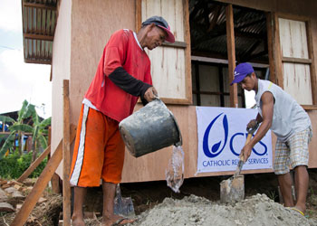 Trabajo de recuperación en Filipinas después del tifón Haiyan