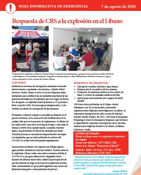 explosion-libano, programas de emergencias